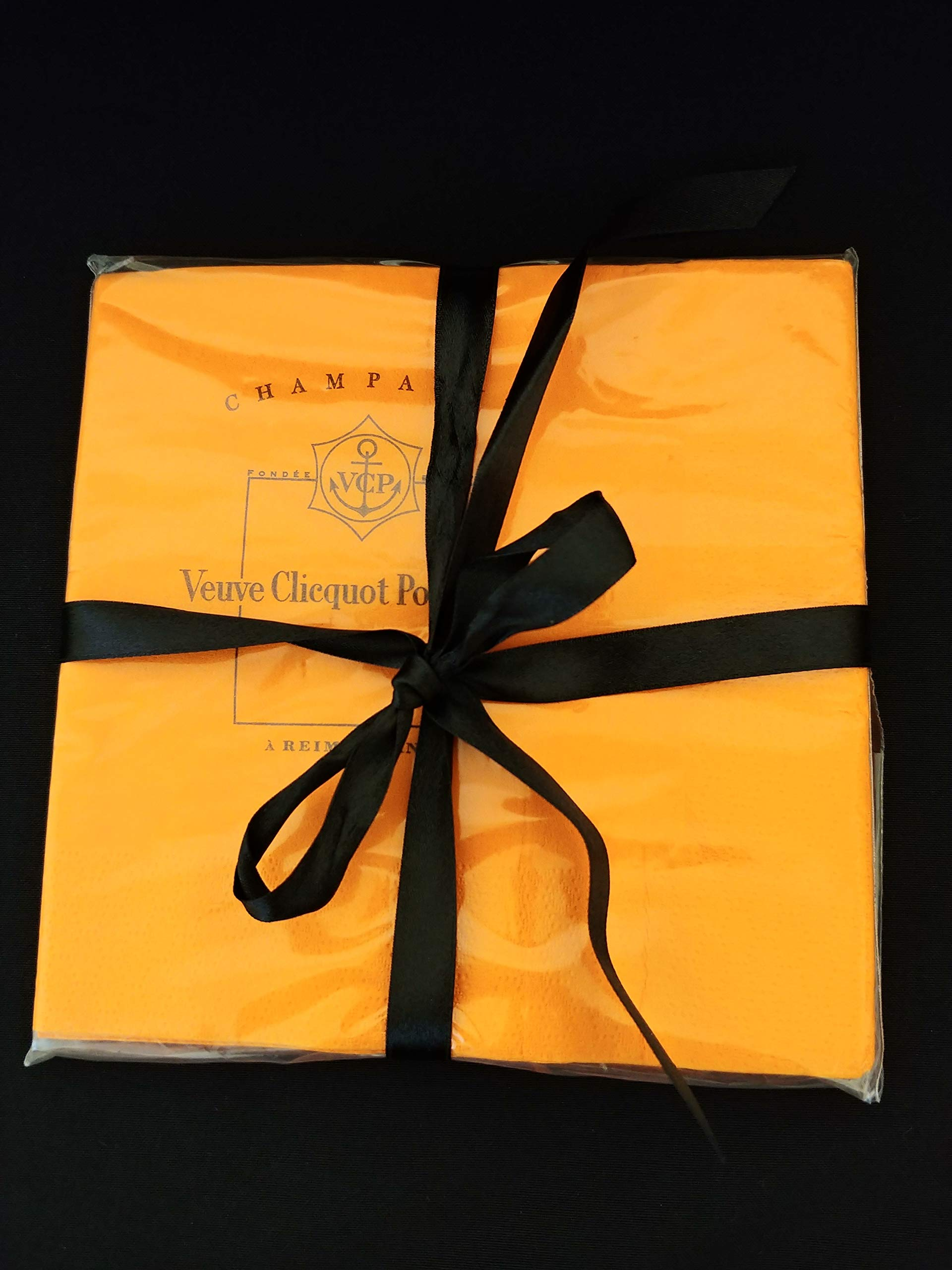 Veuve Clicquot Ponsardin Yellow Label Champagne Accessory Cocktail Napkin 8 pack