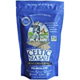 Celtic Sea Salt Light Grey, (1) 1 Pound Resealable Bag, Great for Cooking & Baking, Pickling or Grinding, Non-GMO, Gluten Free, Kosher