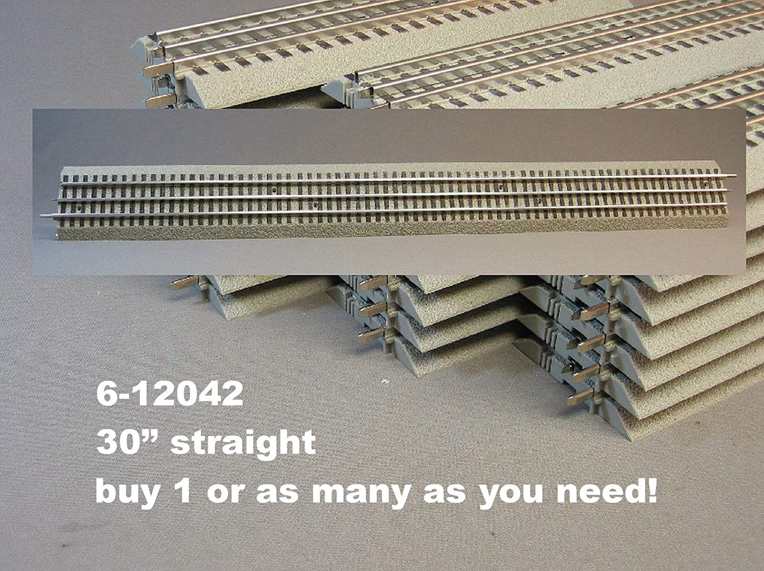 Lionel FasTrack 30 inch Extra Long Straight Track Train