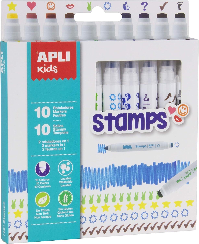 APLI Kids 16807 - Rotuladores Stamps 10 u. Única