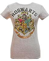 bioWorld Harry Potter Juniors Hogwarts Crest Heather T-Shirt Grey