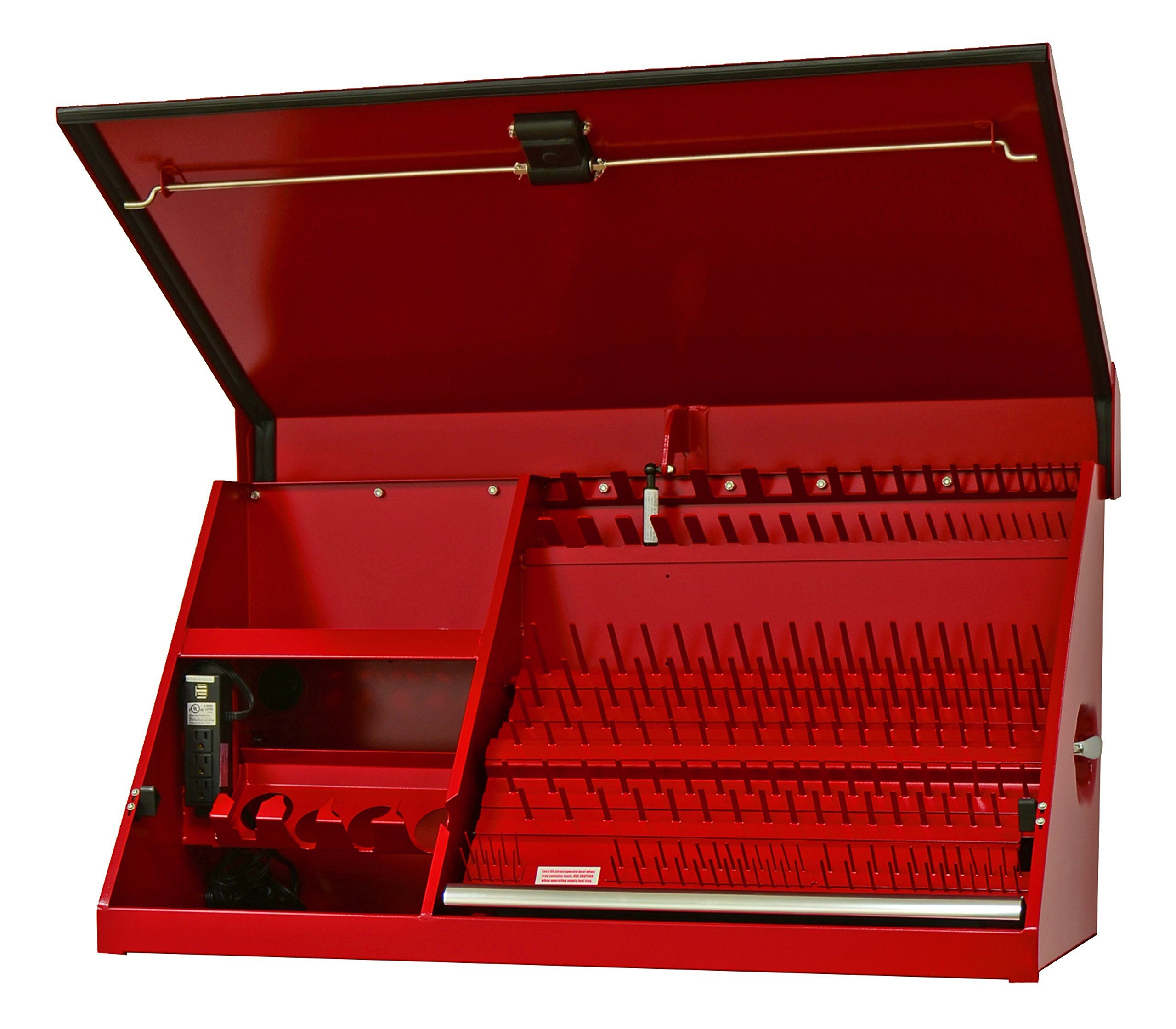 Extreme Tools PWS4100TXRD Pws Series Extreme Portable Workstation, 41-Inch, Red Textured, Weather-Resistant Finish