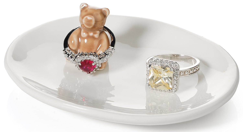 Amazoncom Bear Ring Holder Beautiful Ceramic Engagement and