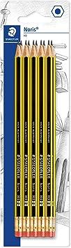 Image ofSTAEDTLER Noris 122 HB - Paquete de 10 Lápices de Madera, Color Negro y Amarillo