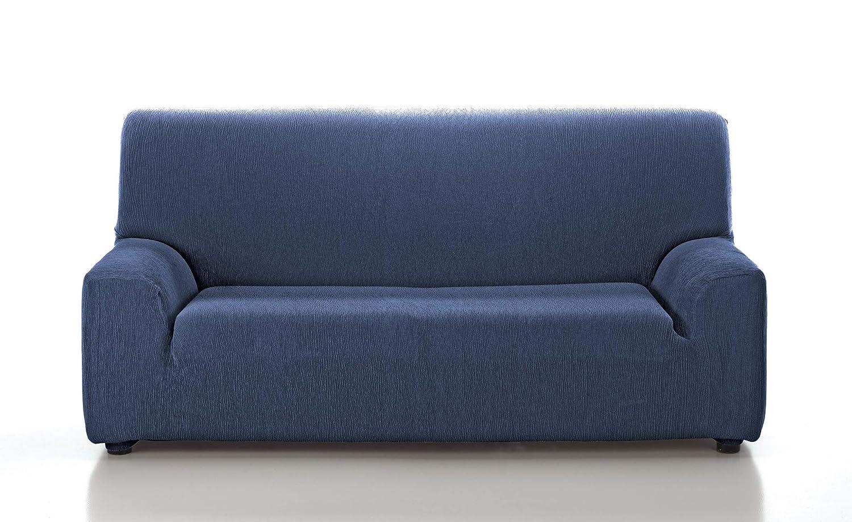 TEXTILONLINE Funda de Sofa Elastica Araj (Trio (2 de una Plaza + 1 de 3 Plazas), Azul)