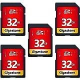 Gigastone 32GB 5 Pack SD Card UHS-I U1 Class 10 SDHC Memory Card High-Speed Full HD Video Canon Nikon Sony Pentax Kodak Olymp