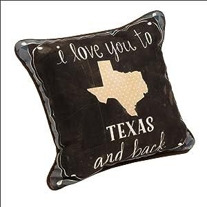 MW I Love You to Texas & Back Kd12 Dye Pillow 12.5X12.5