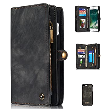 f2040f6593 iPhone8 plus ケース iPhone7 plus ケース Boomshine 100% 手作り ビンテージレザー 多機能スマホ手帳