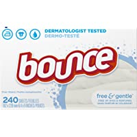 Deals on 240-Count Bounce Fabric Softener Sheets Free & Gentle