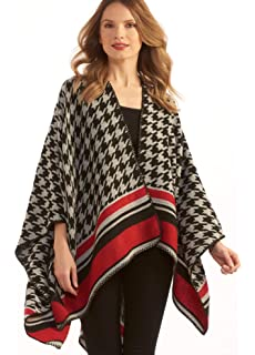 81b086078 Charlie Paige Pink and Purple Woven Cape at Amazon Women's Clothing ...