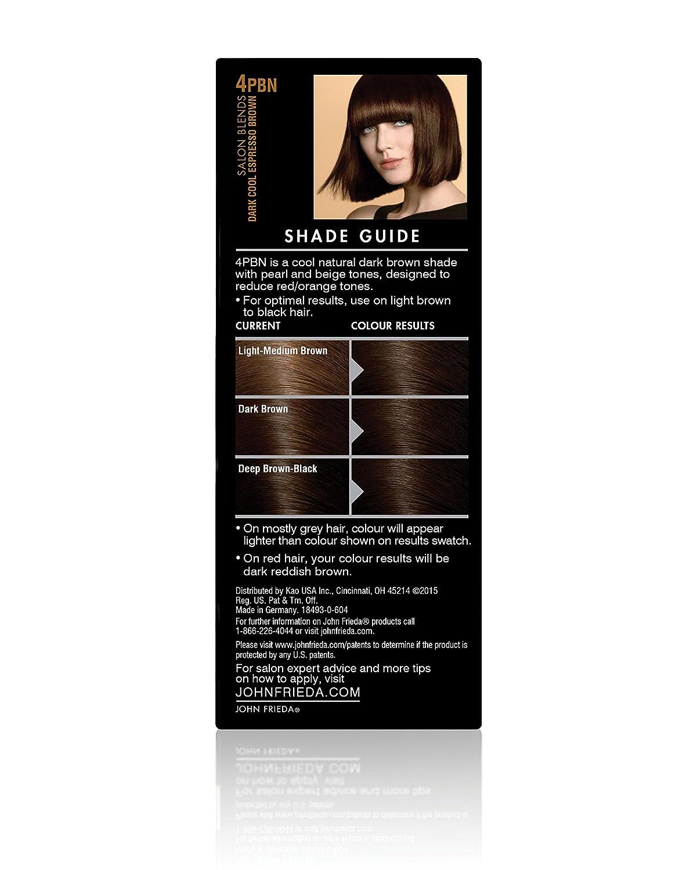 Amazon Com John Frieda Precision Foam Permanent Hair Colour In 4pbn