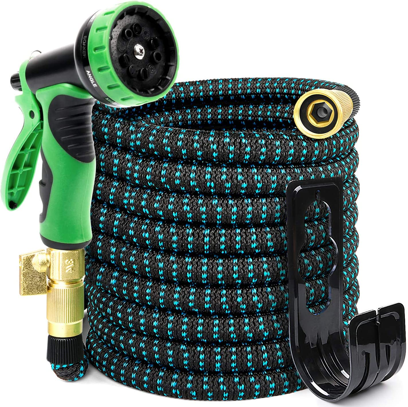 PUUKU 30FT Expandable Garden Hose Kink Free Water Hoses with 9 Functions Nozz...