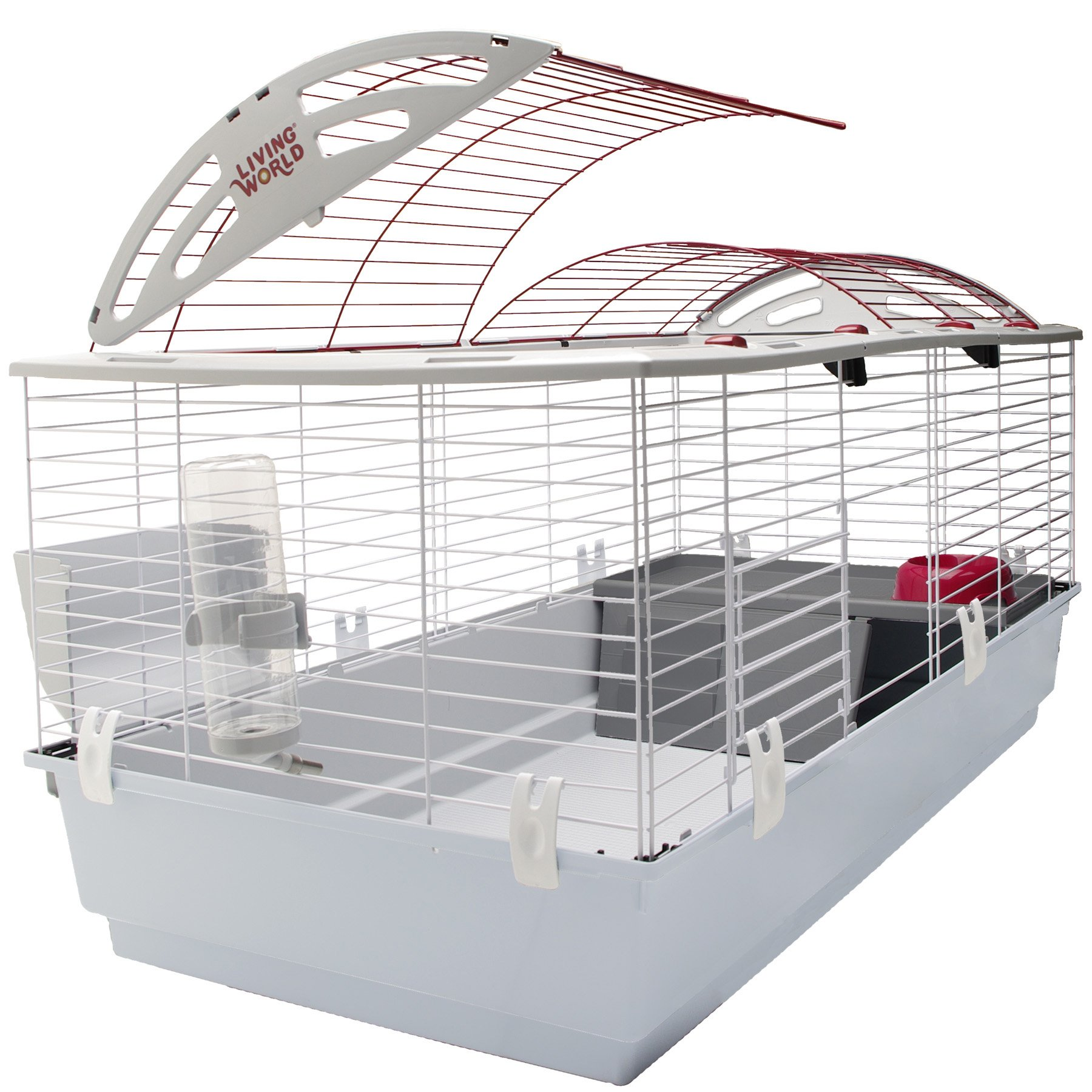 Living World Guinea Pig, Rabbit, Ferret Cage - X-Large Deluxe Hutch by Living World