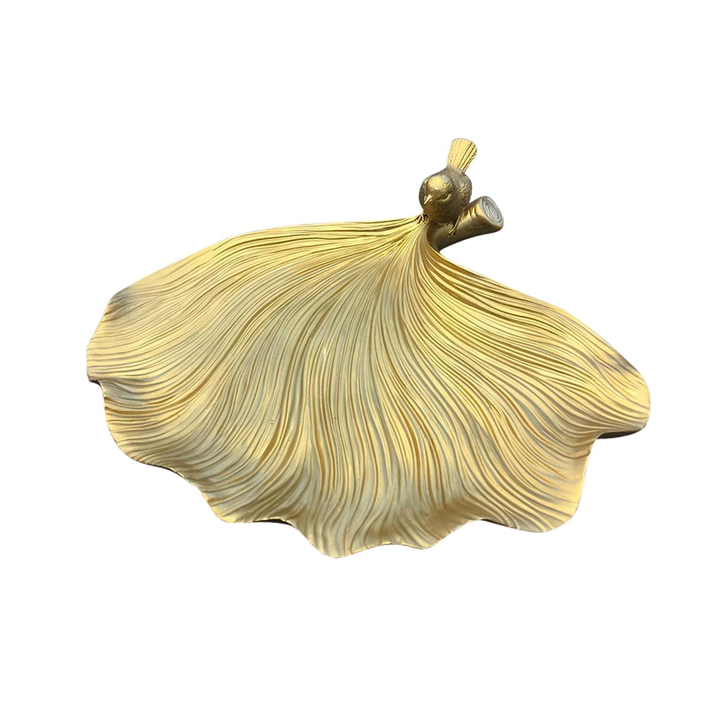 Amazon.com: Sagebrook Home Decorative Resin Leaf Plate, Gold: Home ...
