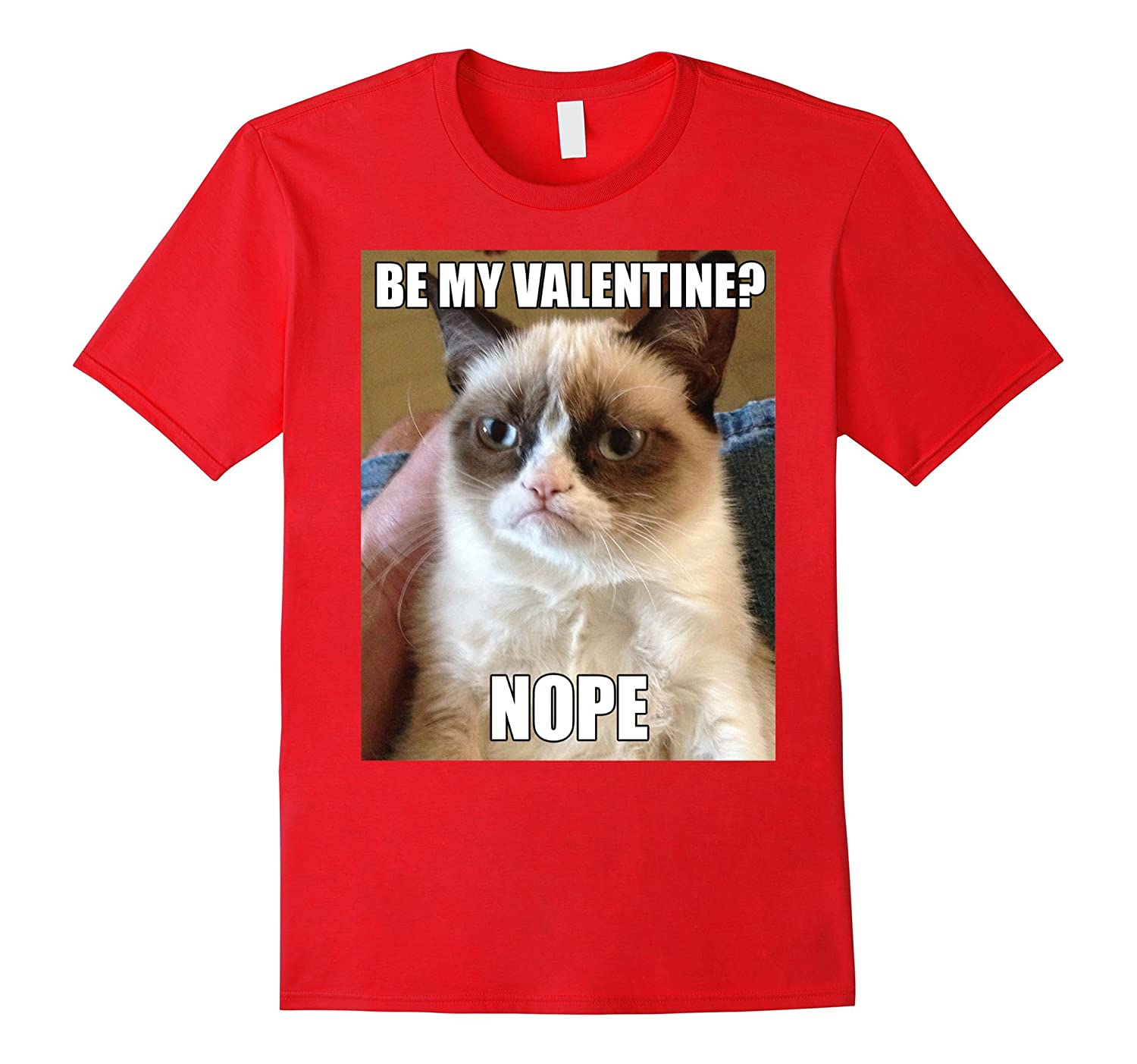 Grumpy Cat Nope Valentine S Day Meme Photo Graphic T Shirt Rt