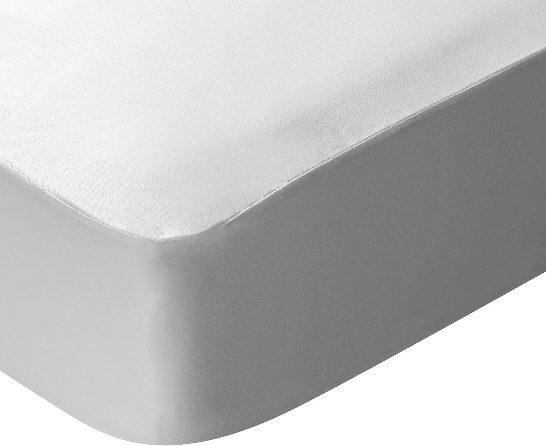 Pikolin Home - Protector de colchón de cuna Lyocell, híper-transpirable e impermeable, color blanco, 60x120cm-Cuna (Todas las medidas)