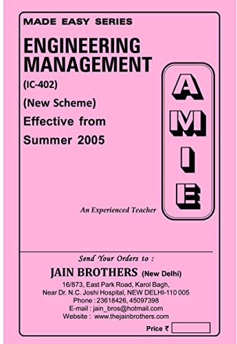 AMIE Engineering Management IC402 Section-B Solved Question Paper