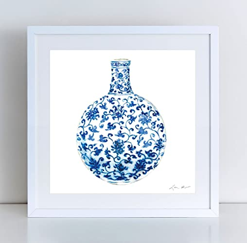 amazon com blue and white china art 13 ginger jar painting ginger