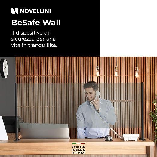 Novellini Besafe Wall V2 Mamparas Para Oficinas 6mm Mampara Mostrador Mamparas Proteccion Mostrador Mampara Protectora Mostrador Mampara Proteccion Mostrador Pantalla Mostrador: Amazon.es: Industria, empresas y ciencia