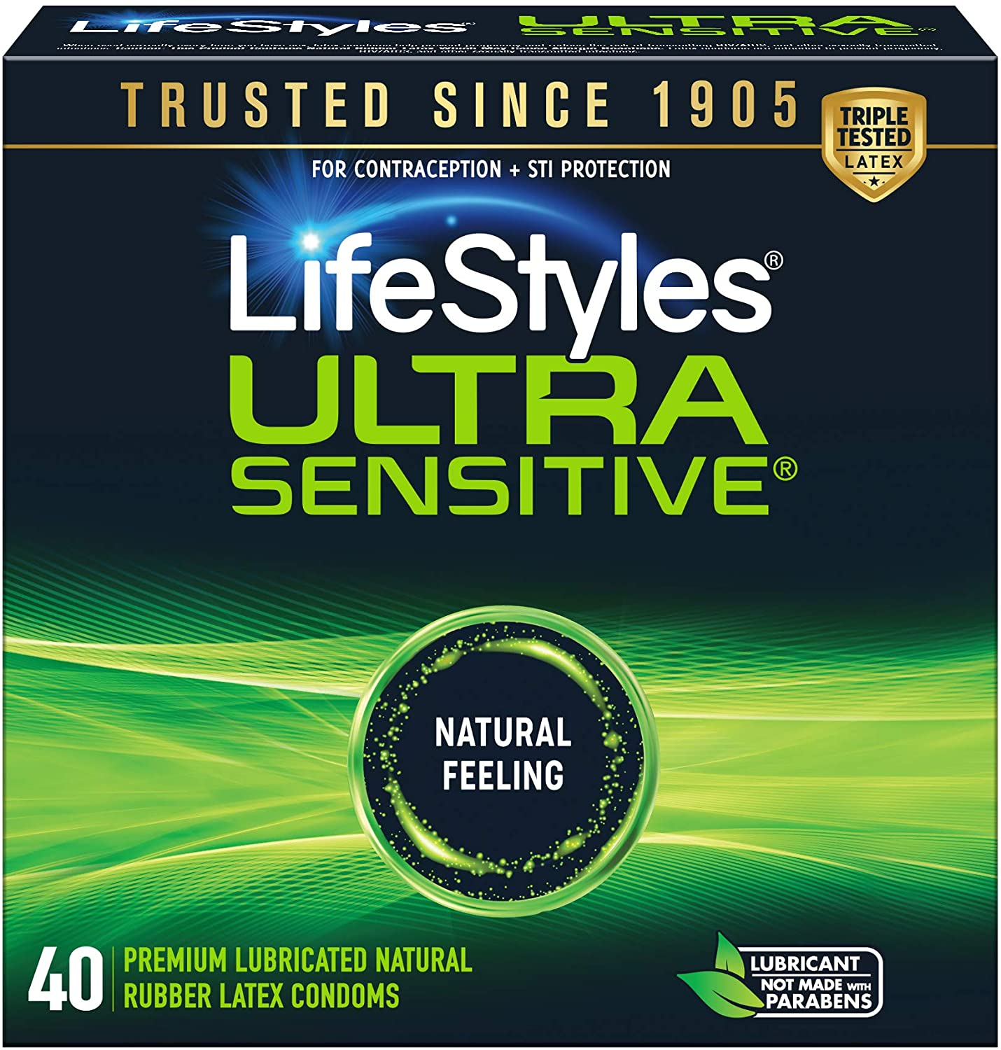 B004TTXA8C LifeStyles Ultra Sensitive Condoms, 40ct 81x3FQCoNVL