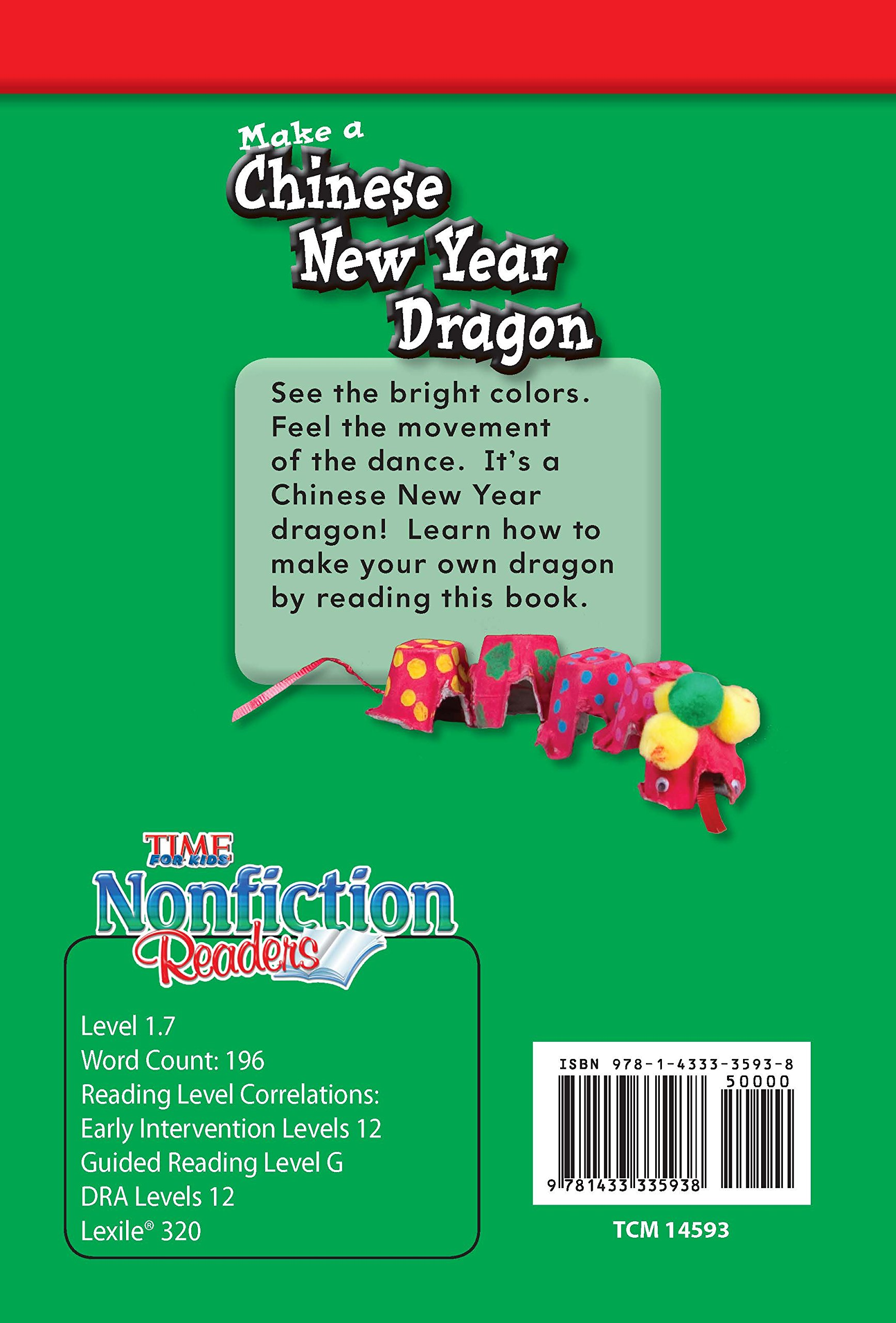 Amazon: Teacher Created Materials  Time For Kidsrmational Text:  Make A Chinese New Year Dragon  Grade 1  Guided Reading Level G (time For  Kids