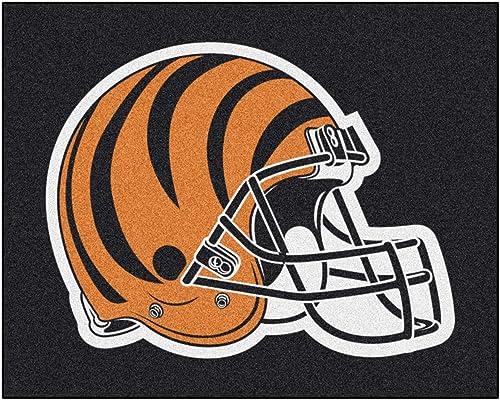 FANMATS NFL Cincinnati Bengals Nylon Face Tailgater Rug