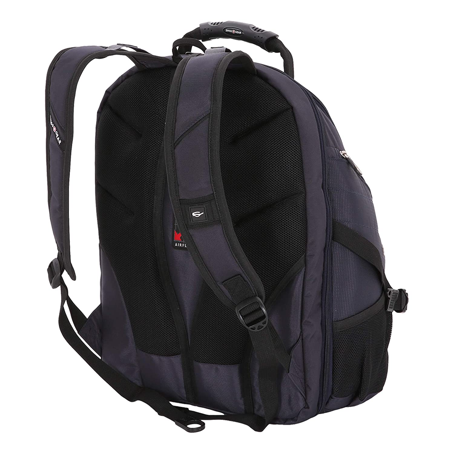 63e1a0118cb8 SwissGear SA1923 Noir Satin TSA Friendly ScanSmart Laptop Backpack - Fits  Most 15 Inch Laptops and Tablets