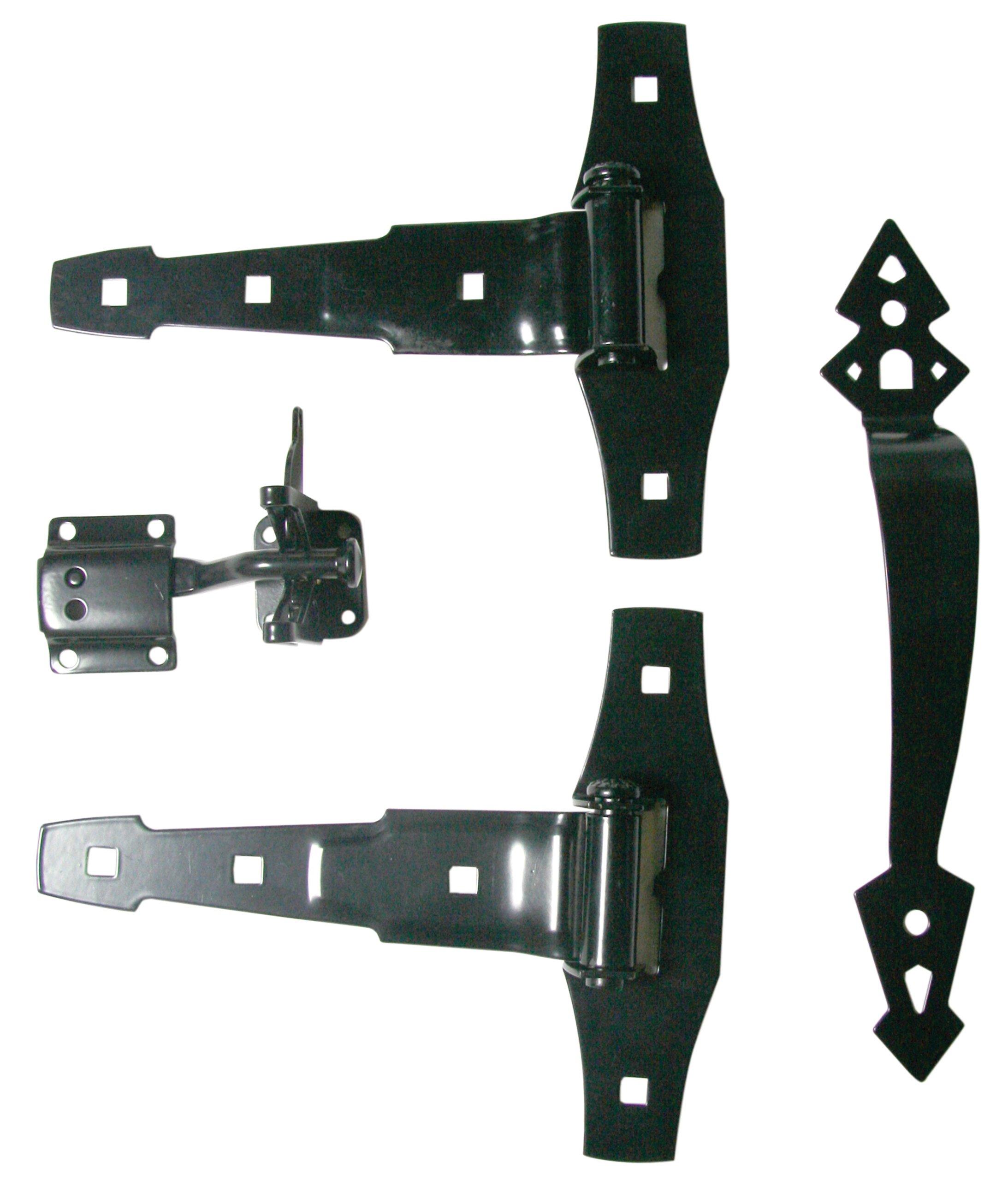 Ultra Hardware 35921 Spring T-Hinge Kit, Black