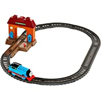 Fisher Price DFM49 Thomas & Friends Tack Master Ferrovia Motorizzata, Stazione di Wellswoth, Thomas Trenino Motorizzato