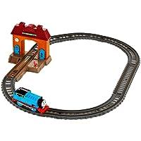 Fisher-Price DFM49 Thomas & Friends Tack Master Ferrovia Motorizzata, Stazione di Wellswoth, Thomas Trenino Motorizzato