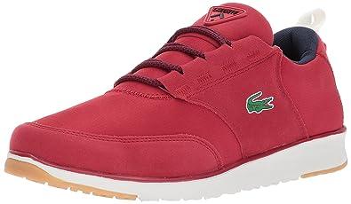 0397cbe62d45ea Lacoste Men s L.Ight 417 1 Sneaker Red Navy 8 M US
