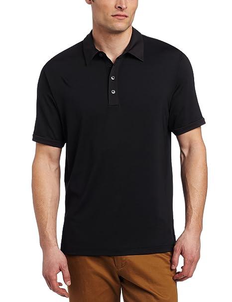 adidas Golf Men's Climalite Microstripe Polo, Black/White, Small