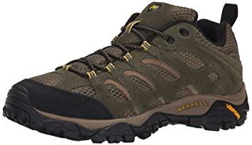 Merrell Mens Moab Ventilator Hiking Walnut Leather Shoe