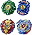 Beyblade Burst - Evolution - SwitchStrike - Elite Warrior 4 Pack - Valtryek, Xcalius, Dranzer, Draciel - Right Spin Battle Tops - Kids Toys - Ages 8+