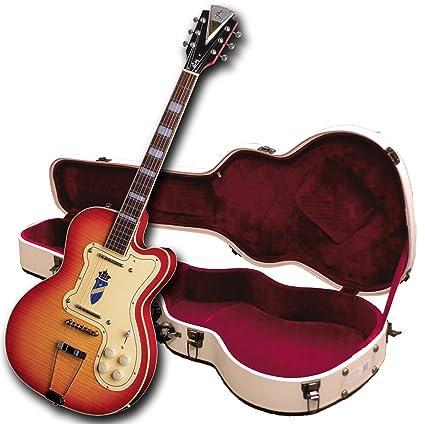 Kay Vintage Reissue K161VCS - Guitarra eléctrica doble delgada, cereza Sunburst, tri-chambered