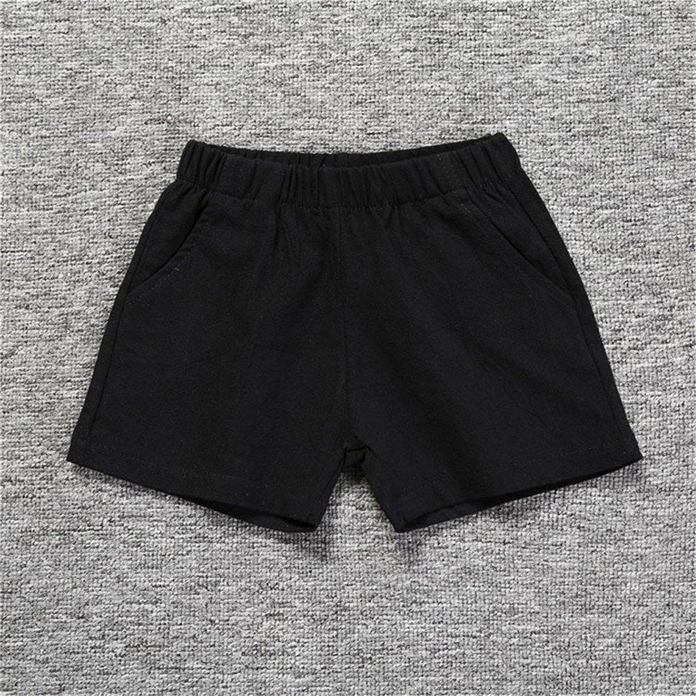 LOOLY Unisex Baby Boys Girls Cotton Plain Shorts Kids Casual Short Pants LOOLYTZ00239