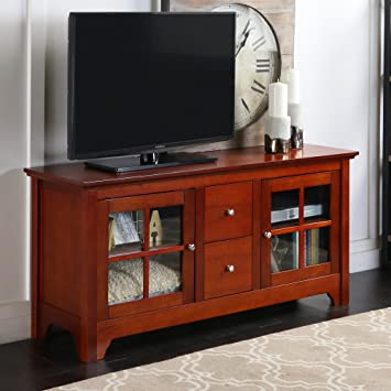 """Walker Edison 53"""" Wood TV Stand Console with Storage Drawers, ..."""