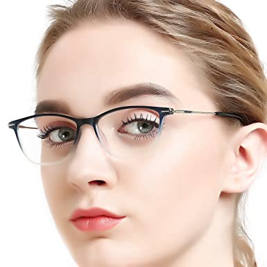 6f624d50885b OCCI CHIARI Fashion Women Thin TR91 Rectangular Eyewear Frames with Clear  Lenses spring hinge  Amazon.co.uk  Clothing
