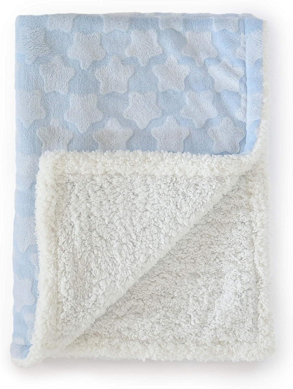 Oh My Baby Boom Couverture en micro-soie Motif /étoiles 80x110 bleu