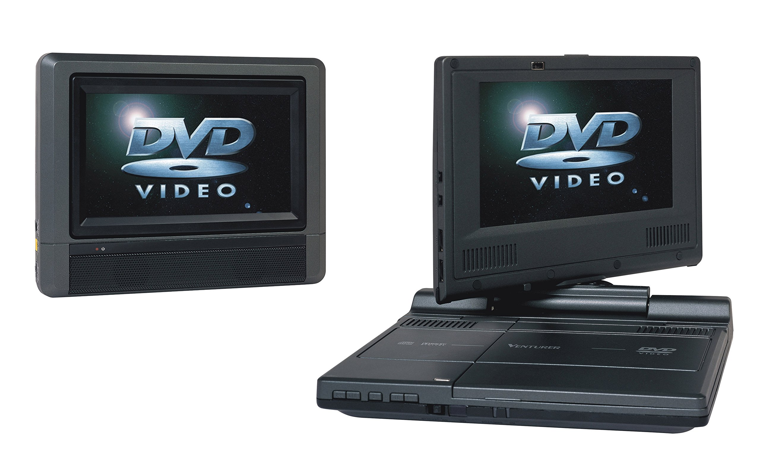 Venturer (PVS19377IR) Swivel Dual-Screen Portable/Mobile DVD Player - Set of Two 7-Inch LCD Screens by Venturer