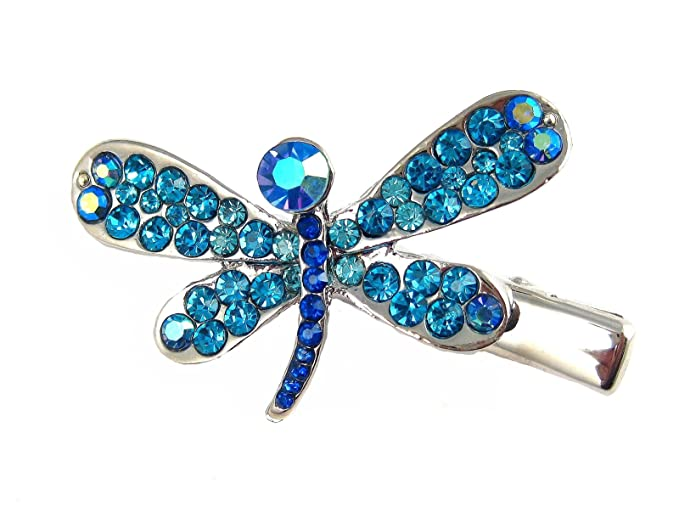 Amazon Com Coraline Crystal Dragonfly Hair Clip Hair Pin Blue H469 Beauty