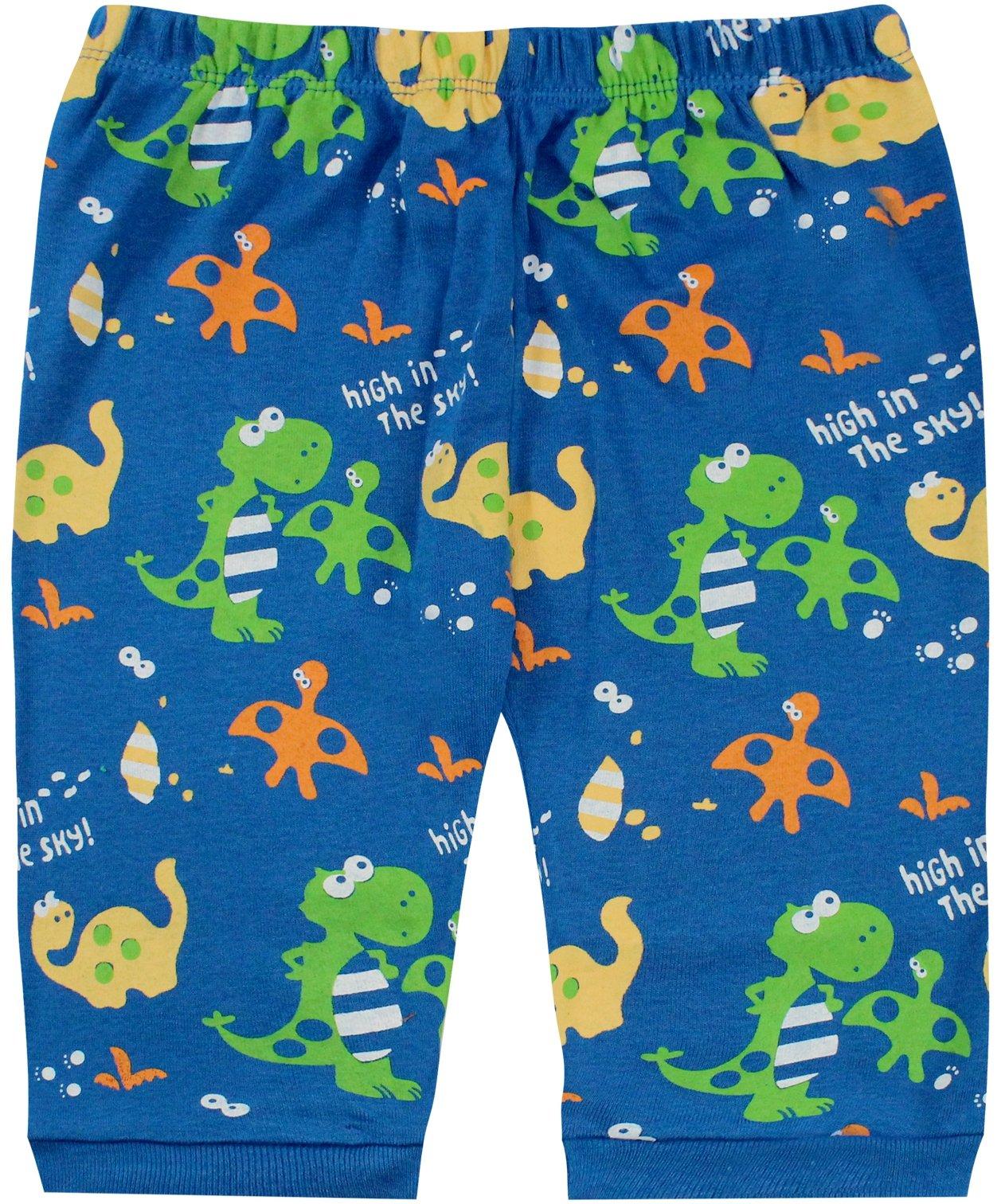 Boys Pajamas Boys Dinosaur Little Kid Shorts Set 100% Cotton Clothes Short Sleeves Sleepwear 8Y by shelry (Image #3)