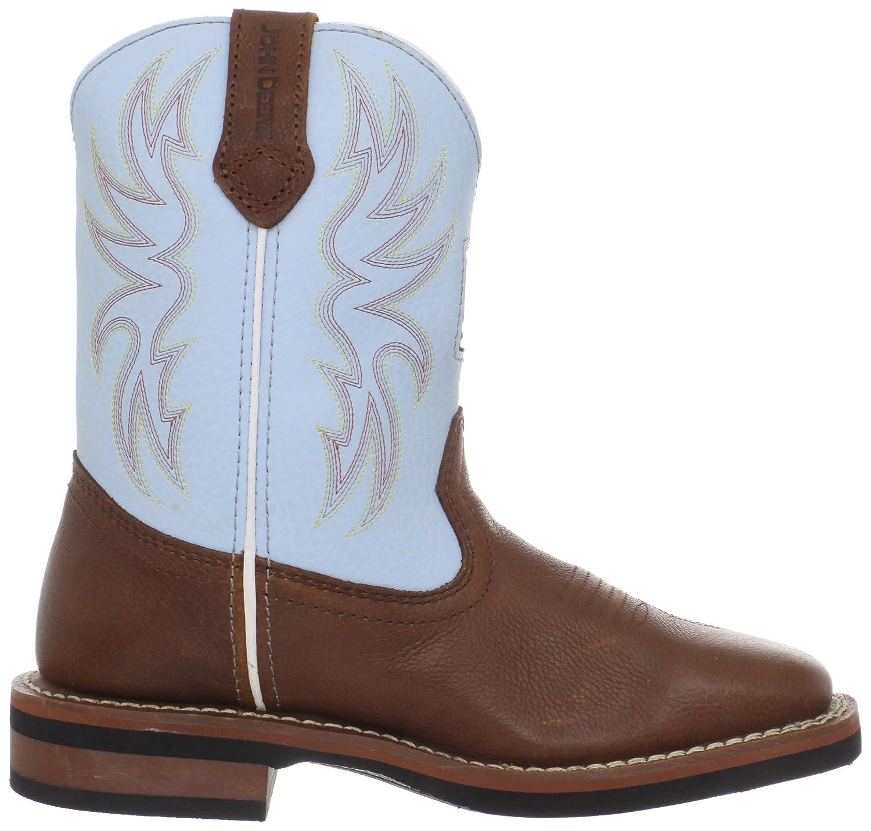John Deere 3316 Western Boot Little Kid//Big Kid K Brown//Blue 4 M US Big Kid GROWIN/' LIKE A WEED PULL-ON