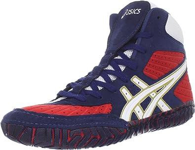 Aggressor Wrestling Shoe, Navy/White