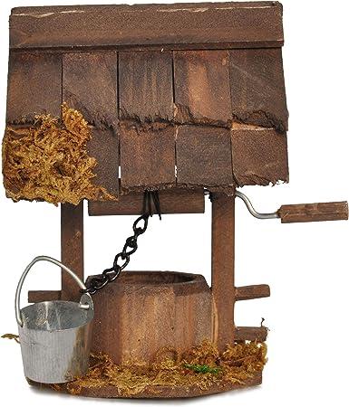 Sealand Pozo de Madera para jardín en Miniatura, jardín de Hadas: Amazon.es: Hogar