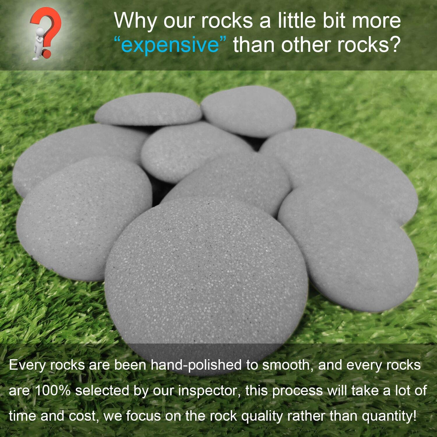 Big Polished Rocks for Painting Art Supplies Crafts for Kids Age 4-8-12 Acrylic Paint 30 Transfer Designs Hide and Seek River Rocks Gifts for Boys and Girls Bingo Castle Rock Painting Kit