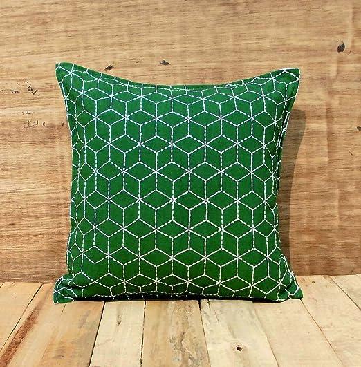 VLiving Esmeralda Verde manta funda de almohada, cojín de ...