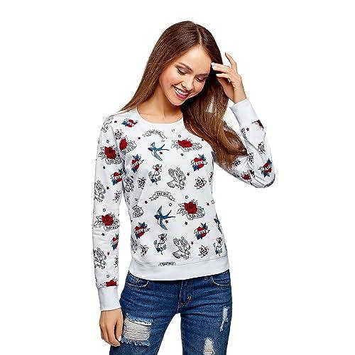 oodji Ultra Mujer Suéter Básico Estampado