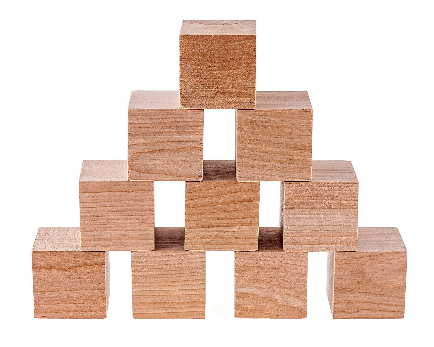 32 Pack Unfinished Wooden Blocks for Crafts and Carving Plain Blank Natural Wood Blocks Wood Blocks 1.5 Inches Made in USA
