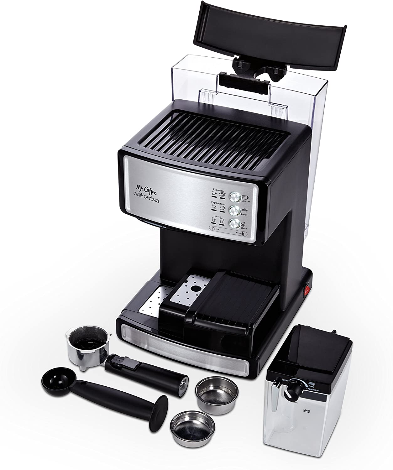 Coffee Cafe Barista Espresso and Cappuccino Maker Silver OpenBox Mr